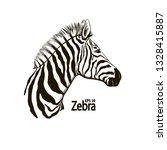 zebra head vector graphics... | Shutterstock .eps vector #1328415887