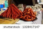 mix of meat  sausages  white...   Shutterstock . vector #1328417147