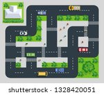 top view of the road with cars... | Shutterstock .eps vector #1328420051