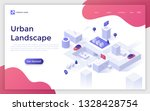 landing page with urban... | Shutterstock .eps vector #1328428754