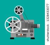 cinema projector  film...   Shutterstock . vector #1328433077