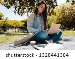 close up of a female college... | Shutterstock . vector #1328441384