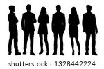 set of vector silhouettes of ... | Shutterstock .eps vector #1328442224