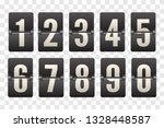 countdown flip board with... | Shutterstock .eps vector #1328448587