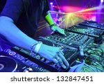 dj mixes the track in the... | Shutterstock . vector #132847451