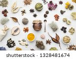 background from dry medicinal...   Shutterstock . vector #1328481674
