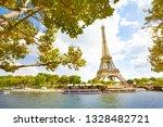 seine river on eifel tower... | Shutterstock . vector #1328482721
