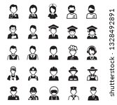 people occupations icons | Shutterstock .eps vector #1328492891