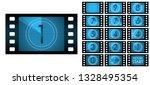 vector film countdown   blue | Shutterstock .eps vector #1328495354