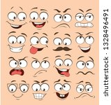 face expression set. vector... | Shutterstock .eps vector #1328496491