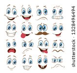 face expression set. vector... | Shutterstock .eps vector #1328496494
