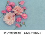 romantic  rosies on the blue... | Shutterstock . vector #1328498027