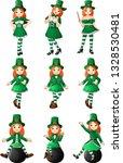 cartoon women leprechaun... | Shutterstock .eps vector #1328530481