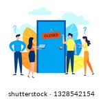 concept of business people... | Shutterstock .eps vector #1328542154