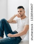 handsome thoughtful man... | Shutterstock . vector #1328544047