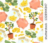 money vector seamless pattern... | Shutterstock .eps vector #1328544347