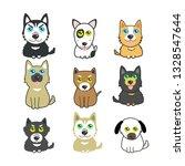 cute dogs set   Shutterstock .eps vector #1328547644