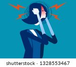 businesswoman with headache.... | Shutterstock .eps vector #1328553467