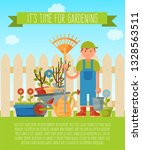 its time for gardening banner ... | Shutterstock .eps vector #1328563511
