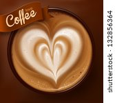 poster with a coffee cup. vector | Shutterstock .eps vector #132856364
