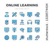 online learning vector line... | Shutterstock .eps vector #1328574434