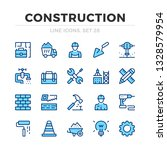 construction vector line icons... | Shutterstock .eps vector #1328579954
