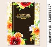 vintage delicate greeting... | Shutterstock .eps vector #1328588927