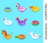 swimming rings. inflatable... | Shutterstock .eps vector #1328591981