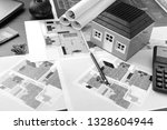 drawings  layout of the house ... | Shutterstock . vector #1328604944