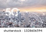 5g internet networking in the... | Shutterstock . vector #1328606594