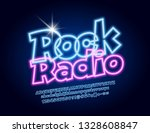 vector glowing emblem rock... | Shutterstock .eps vector #1328608847
