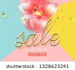 coral color background ... | Shutterstock .eps vector #1328623241