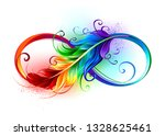 artistically drawn infinity...   Shutterstock .eps vector #1328625461