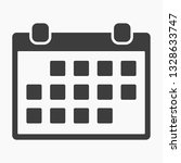 calendar iconvector icon | Shutterstock .eps vector #1328633747