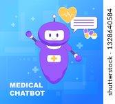 medical chat bot. online... | Shutterstock .eps vector #1328640584