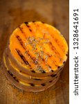 grilled pumpkin slices with... | Shutterstock . vector #1328641691