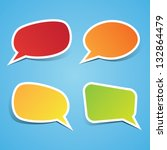 colorful sticky speech bubbles | Shutterstock .eps vector #132864479