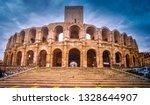 roman amphitheater or arena in... | Shutterstock . vector #1328644907