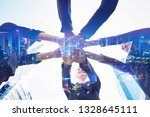 business teamwork and network... | Shutterstock . vector #1328645111