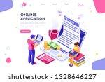 work bills  coin site  money on ... | Shutterstock .eps vector #1328646227