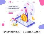 depositing  banknote banner.... | Shutterstock .eps vector #1328646254