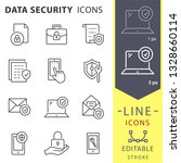data security line icons. set... | Shutterstock .eps vector #1328660114