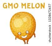 gmo melon vegetable... | Shutterstock .eps vector #1328672657