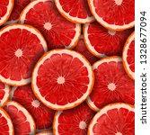 red grapefruit seamless pattern ... | Shutterstock .eps vector #1328677094