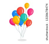bunch of helium balloon  flying ... | Shutterstock .eps vector #1328678474