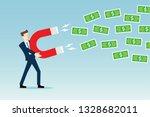 attracting money concept | Shutterstock .eps vector #1328682011