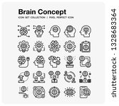brain concept icons set. ui... | Shutterstock .eps vector #1328683364