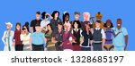 mix race people group different ... | Shutterstock .eps vector #1328685197
