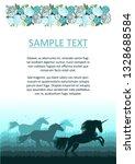 unicorn. text frame.... | Shutterstock .eps vector #1328688584