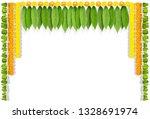 happy ugadi indian flower...   Shutterstock . vector #1328691974